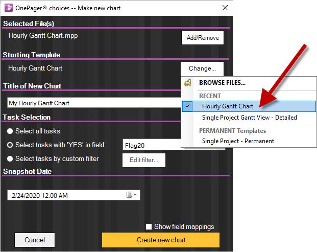 Hourly Gantt Chart Onepager Pro