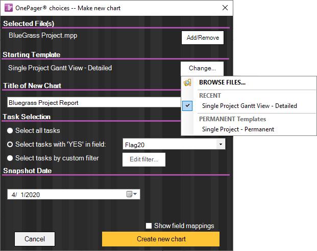 microsoft project gantt chart templates onepager pro