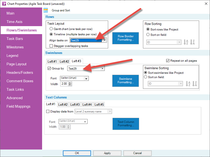 how to change row height in ms project