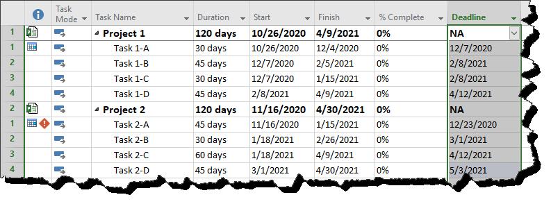 project deadline tracker