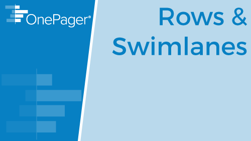 Working with Rows and Swimlanes